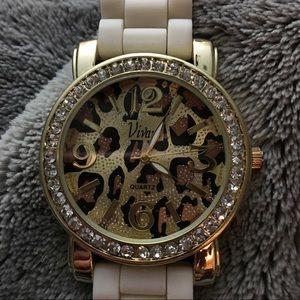 Leopard Print Quartz Watch